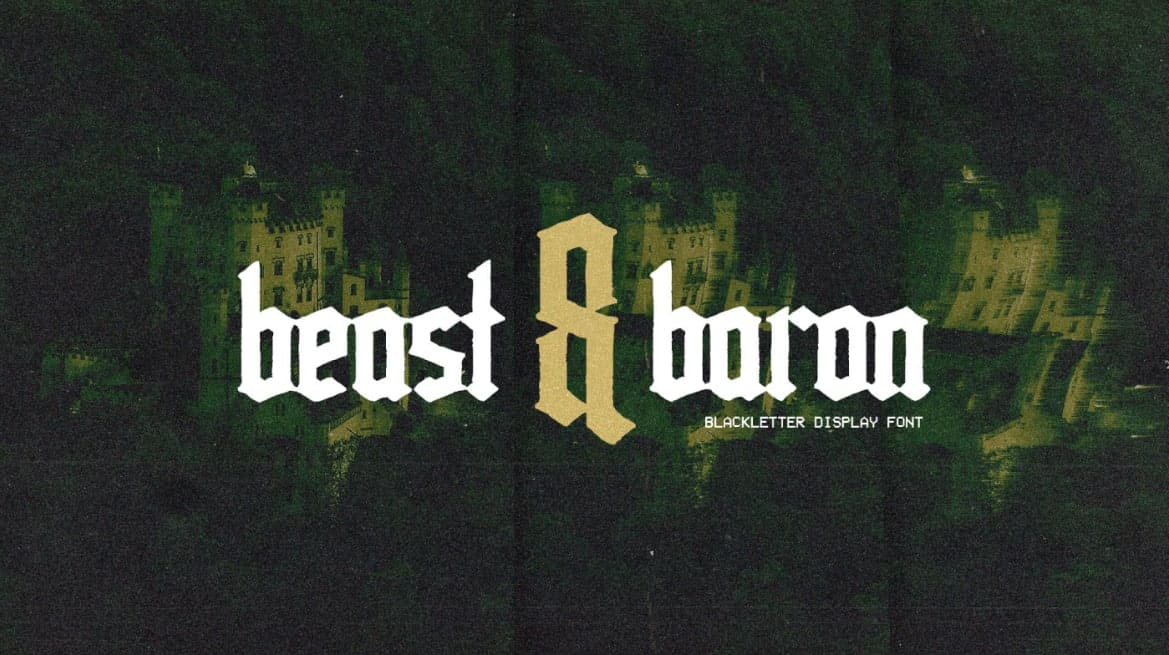 Download Beast and Baron font (typeface)