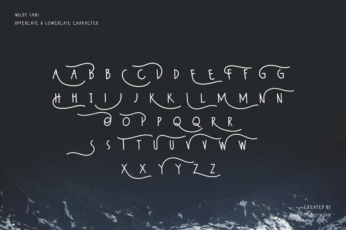 Download Wildy Sans font (typeface)