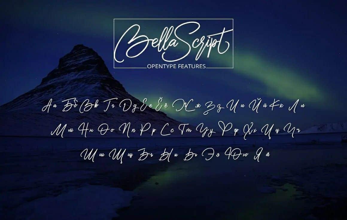 Download Bella Script font (typeface)