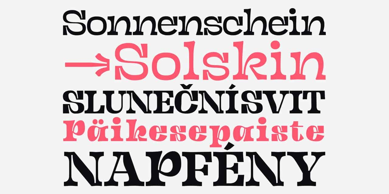 Download Sunshine Pro font (typeface)