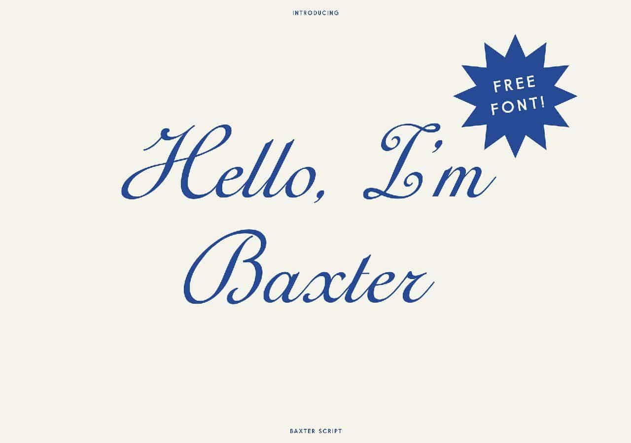Download Baxter Clean font (typeface)