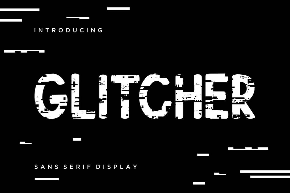 Download Glitcher font (typeface)