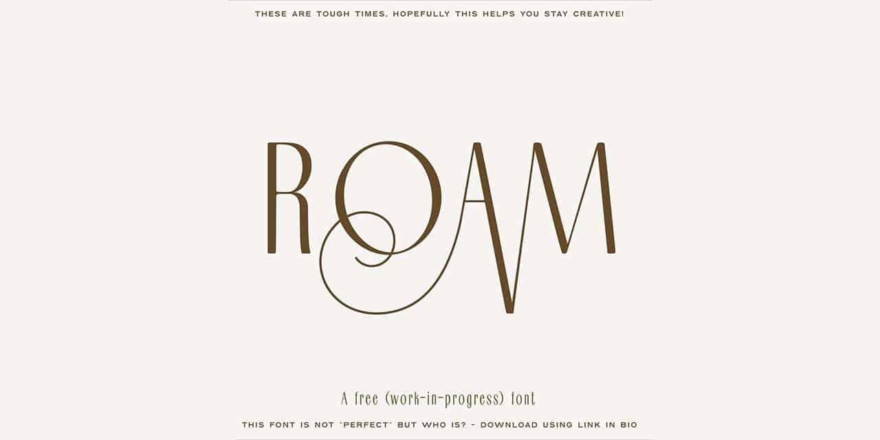Download Roam font (typeface)