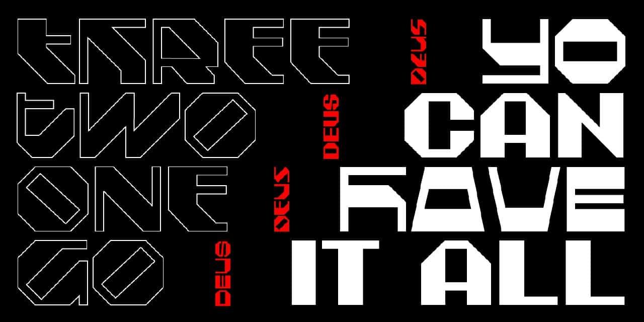 Download Deus Basic font (typeface)