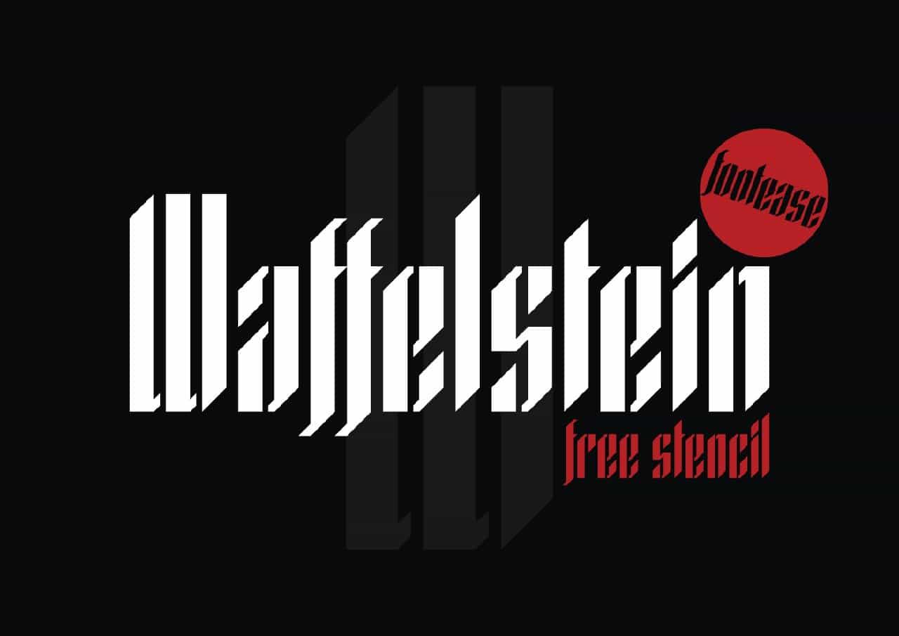 Download Waffelstein Stencil font (typeface)