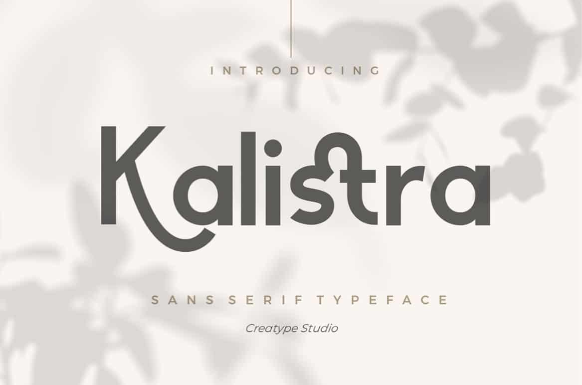 Download Kalistra font (typeface)