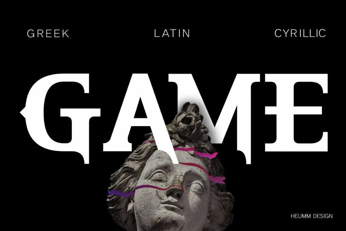 Download HU The Game font (typeface)