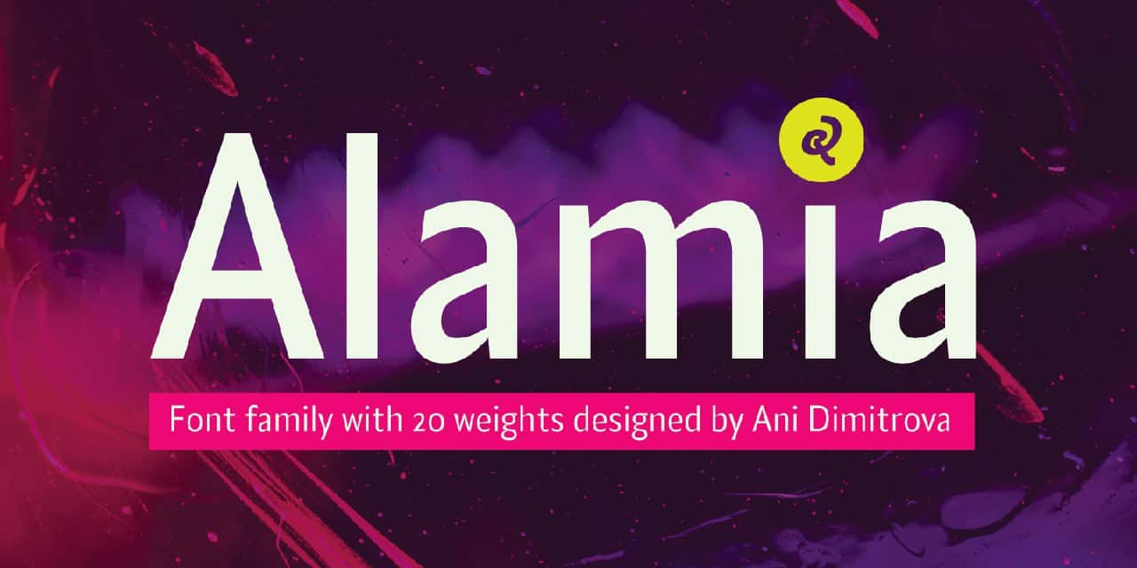 Download Alamia Thin font (typeface)