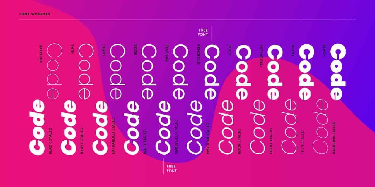 Download Code Next font (typeface)