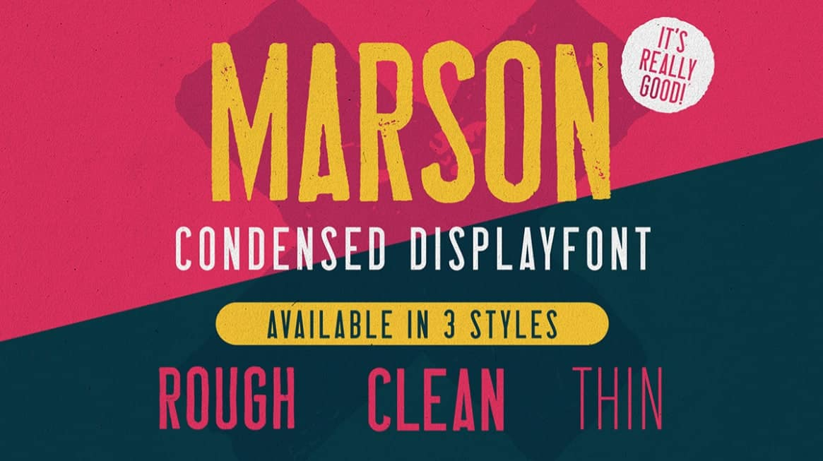 Download Marson font (typeface)