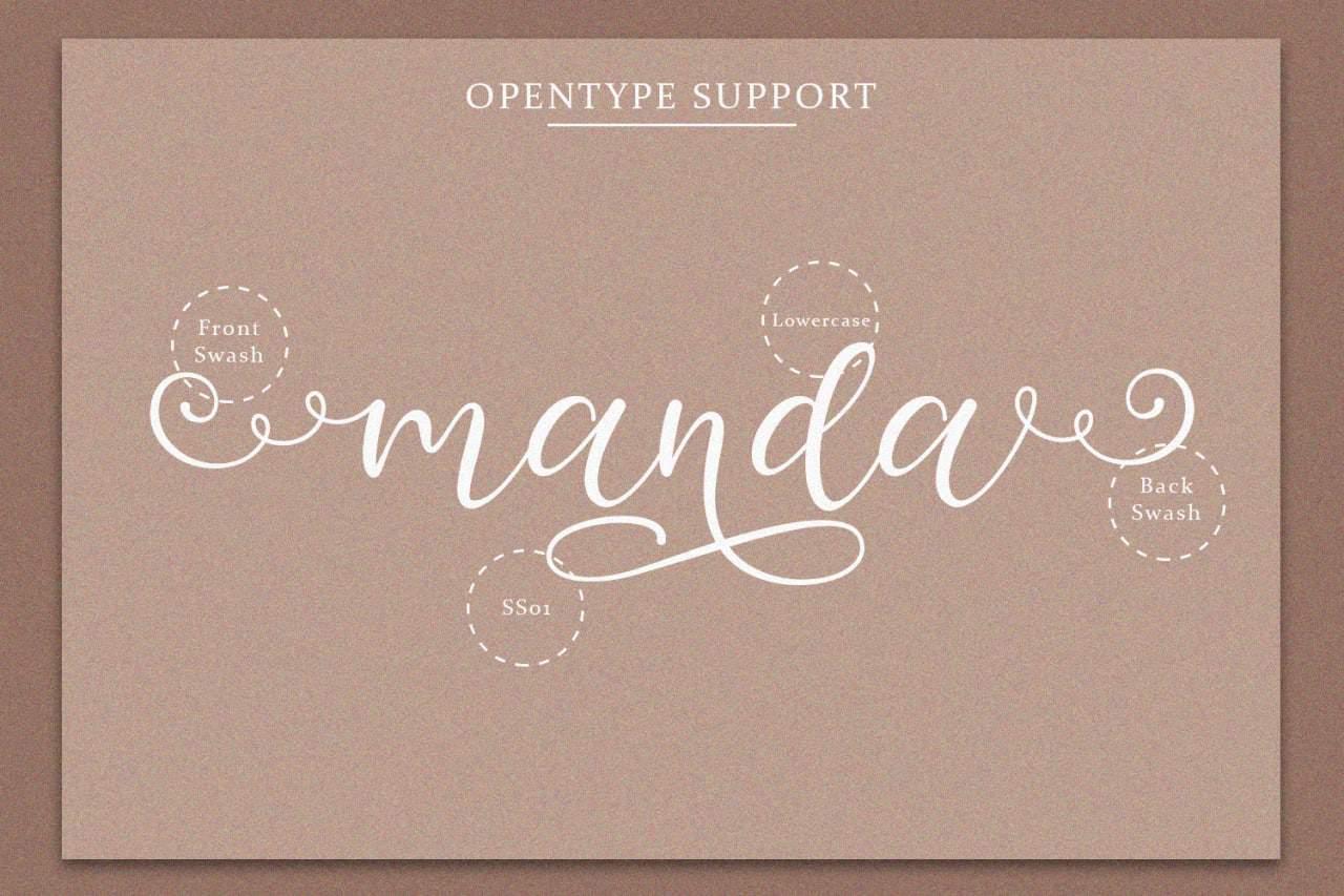 Download Manda font (typeface)