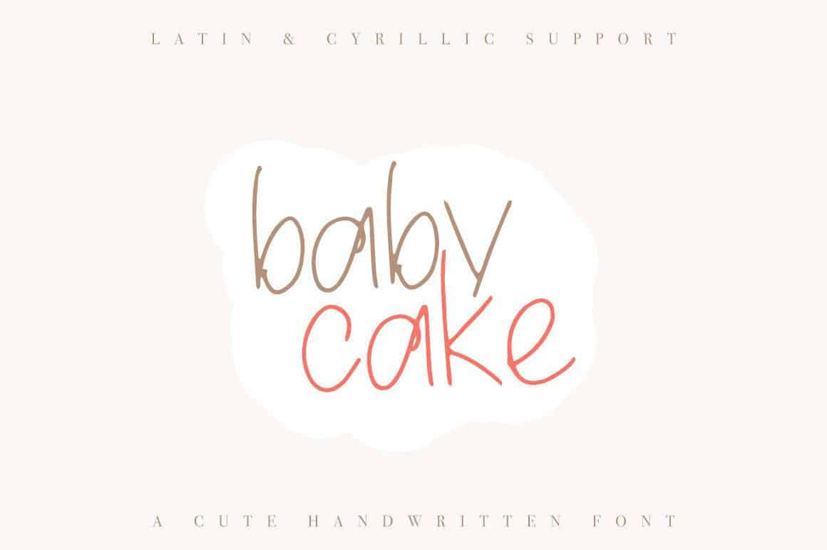 Download Baby Cake font (typeface)