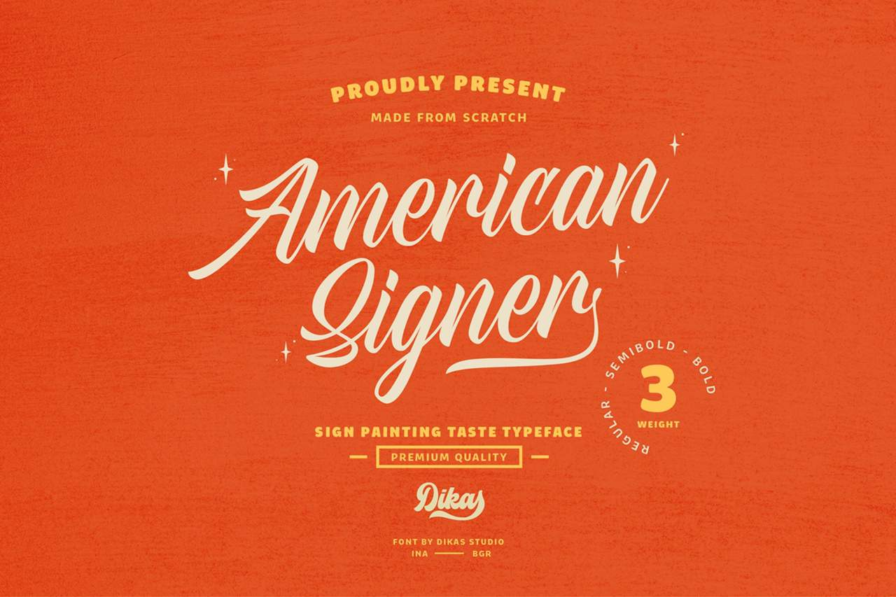 Download American Signer font (typeface)
