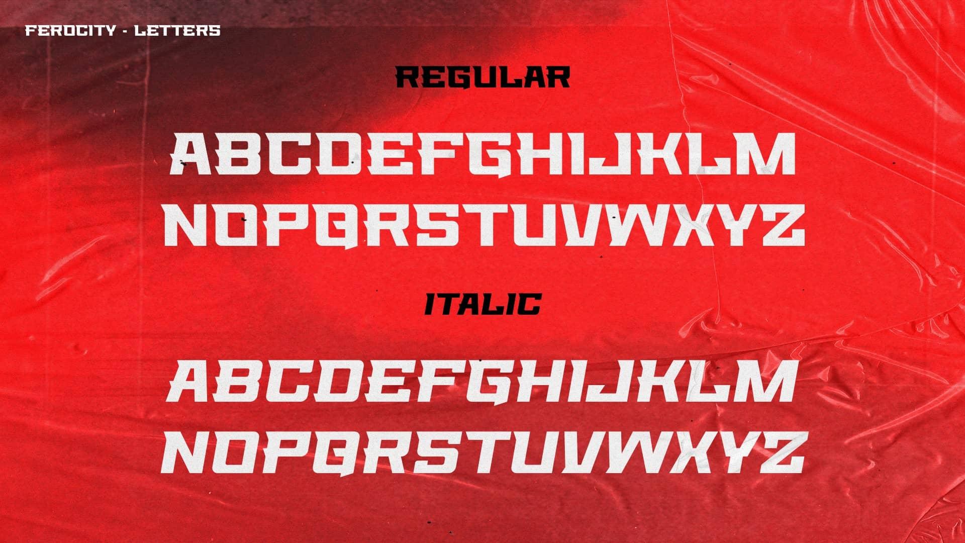 Download Ferocity font (typeface)