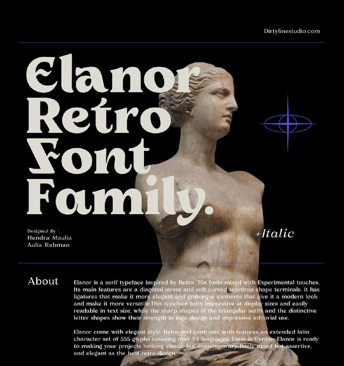 Download Elanor font (typeface)