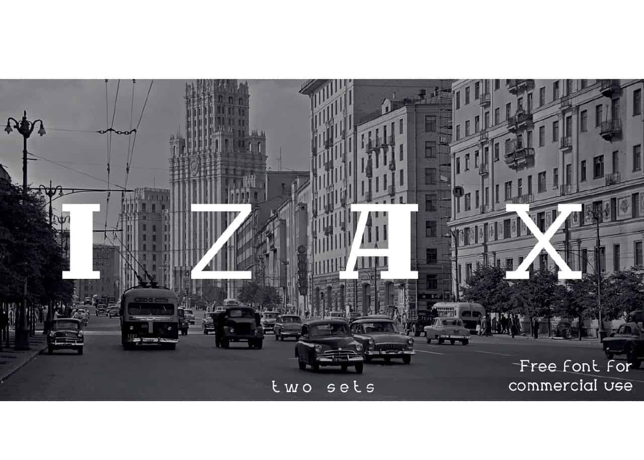 Download Izax font (typeface)