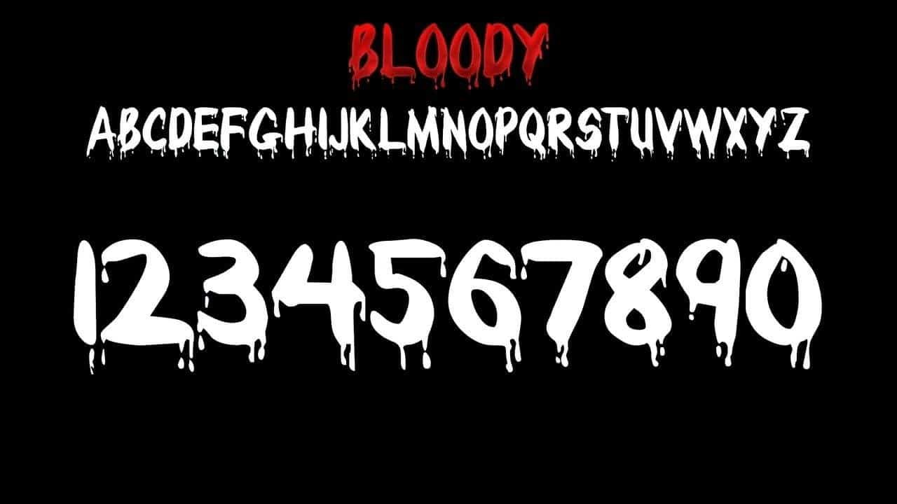 Download Bloody font (typeface)