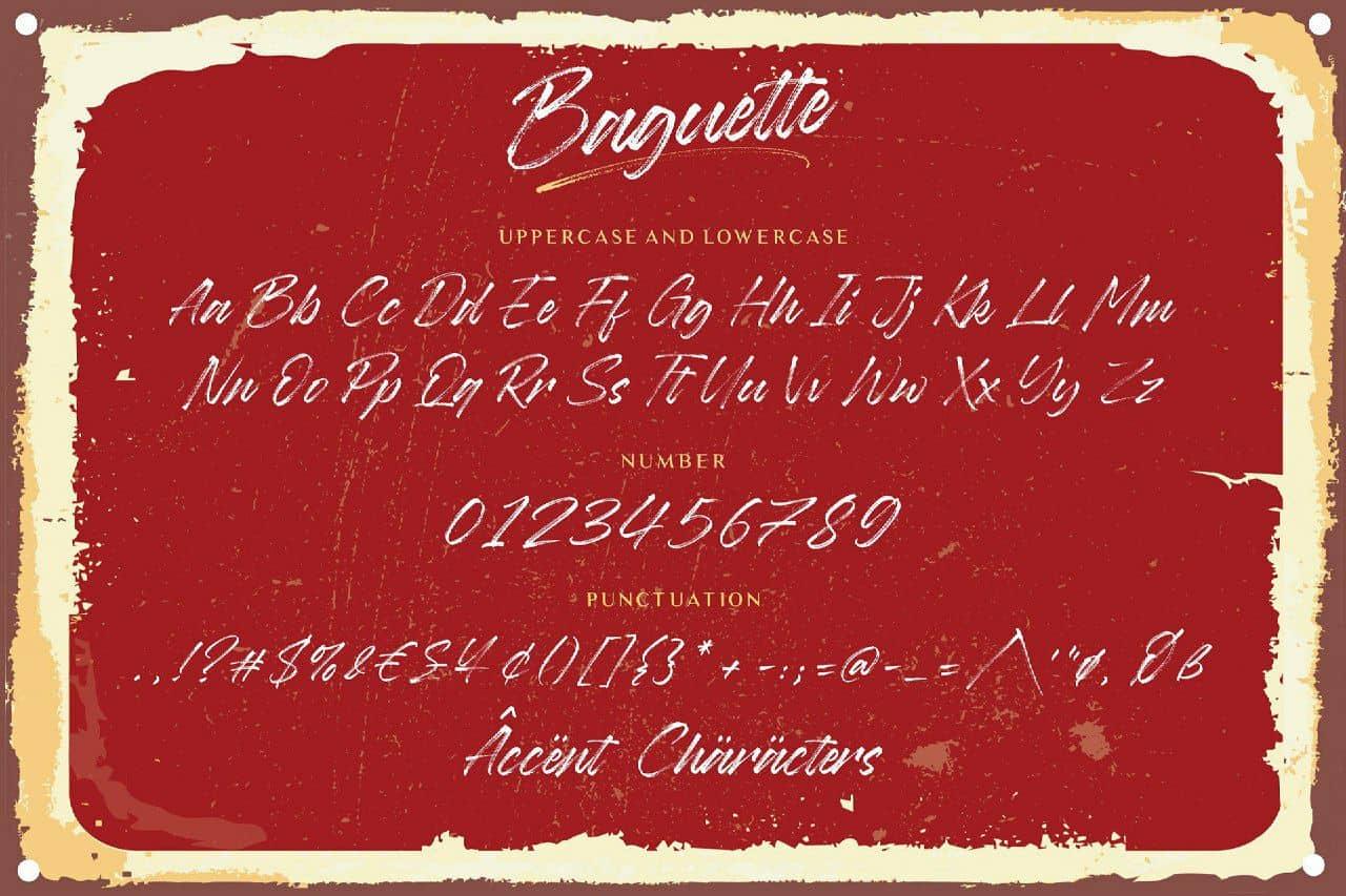 Download Baguette font (typeface)