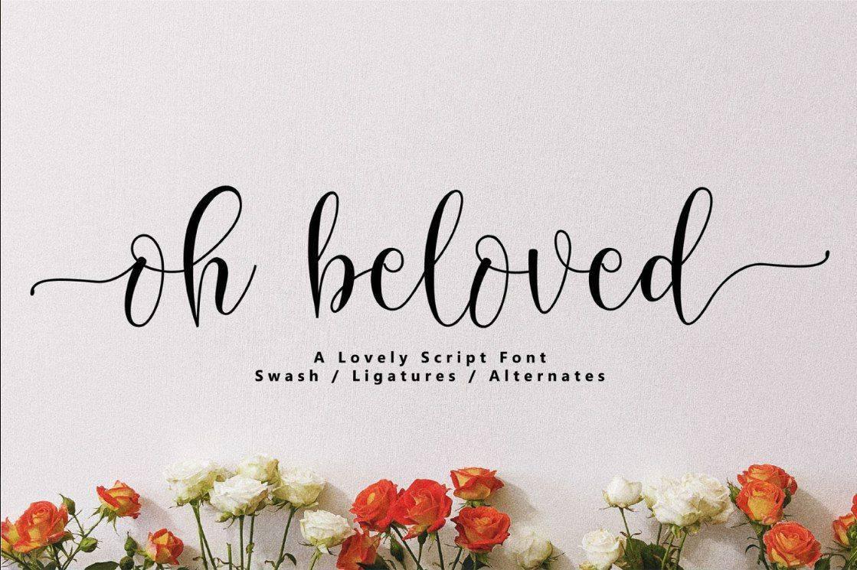 Download Oh Beloved font (typeface)