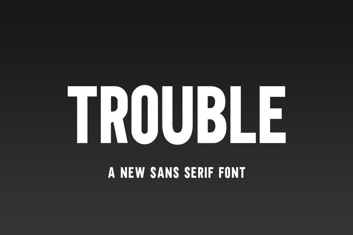Download Trouble font (typeface)
