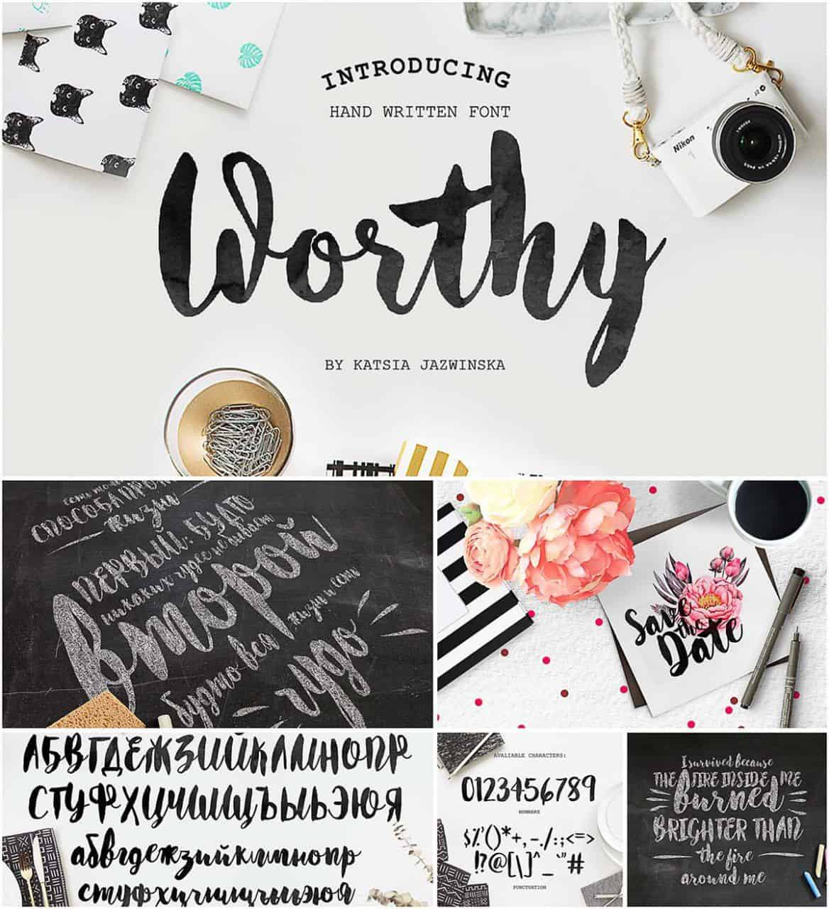 Download Worthy font (typeface)