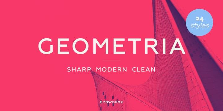 Download Geometria font (typeface)