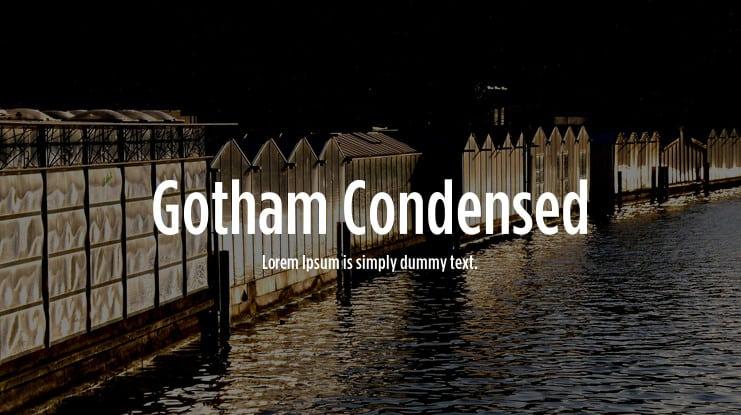 Download Gotham Condensed font (typeface)