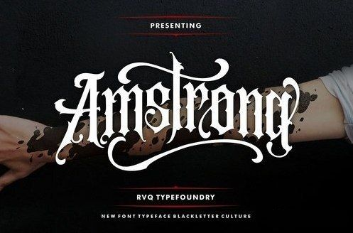 Download Amstrong font (typeface)