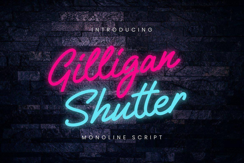 Download Gilligan Shutter font (typeface)