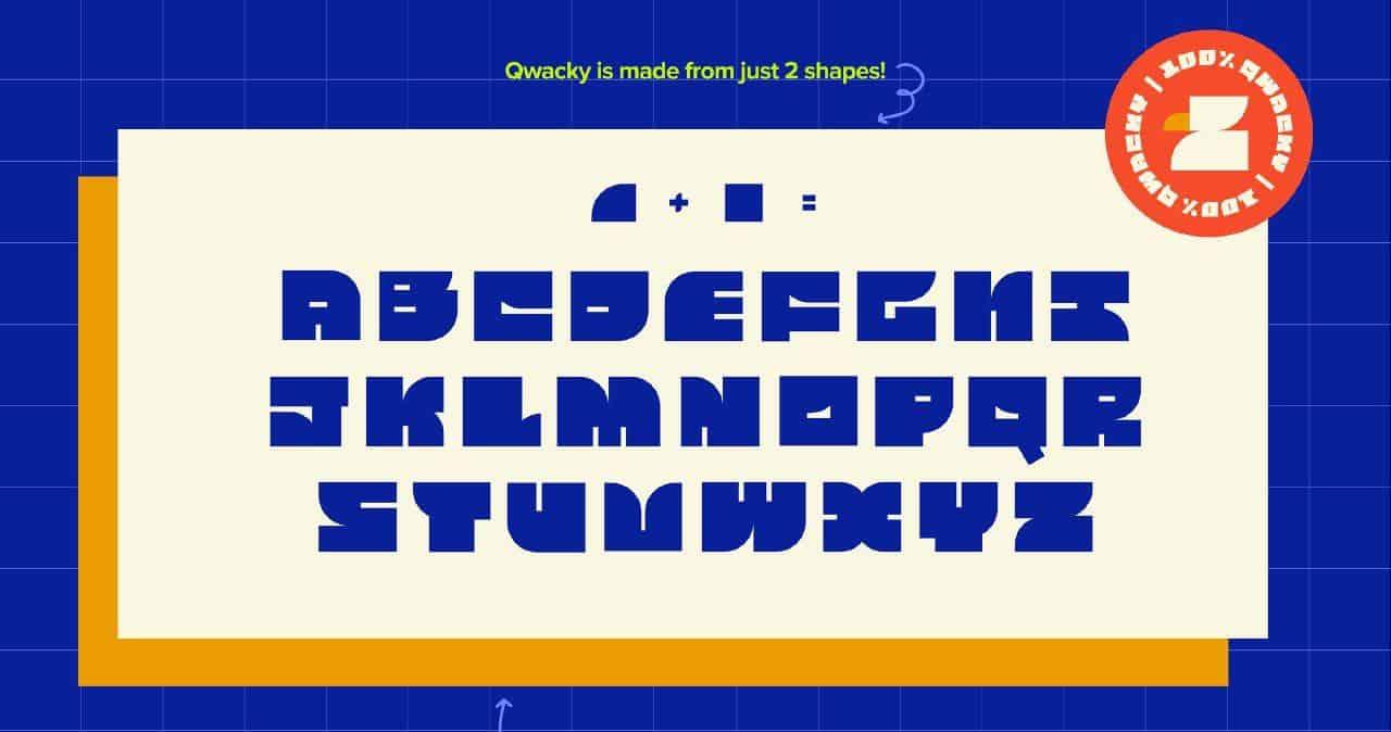 Download Qwacky font (typeface)