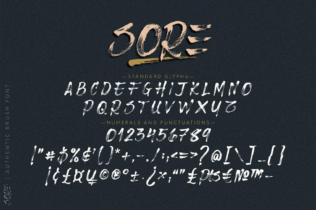 Download Sore Brush font (typeface)