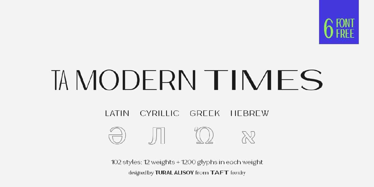 Download Ta Modern Times font (typeface)