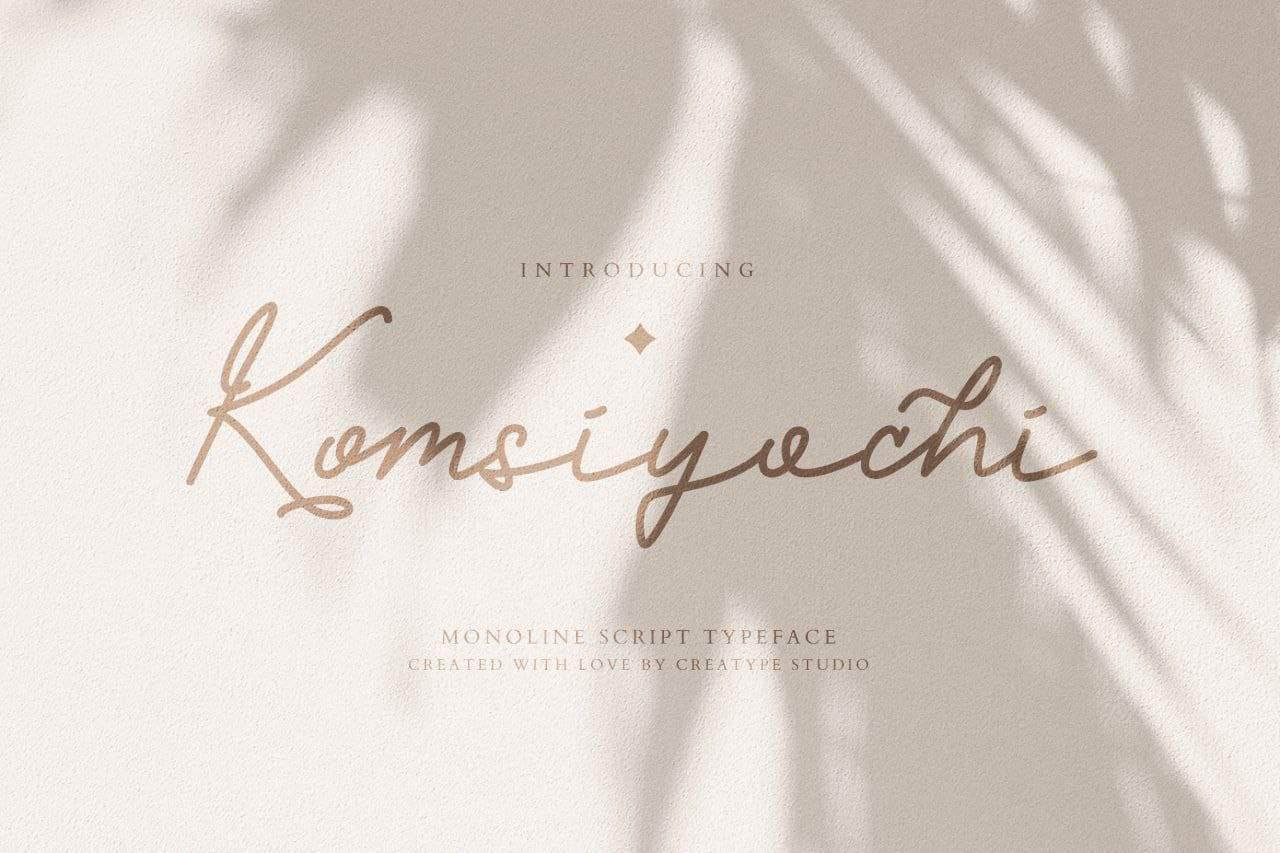 Download Komsiyochi font (typeface)