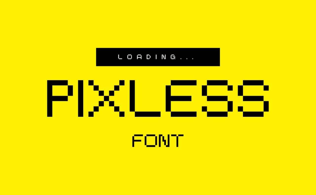 Download Pixless font (typeface)
