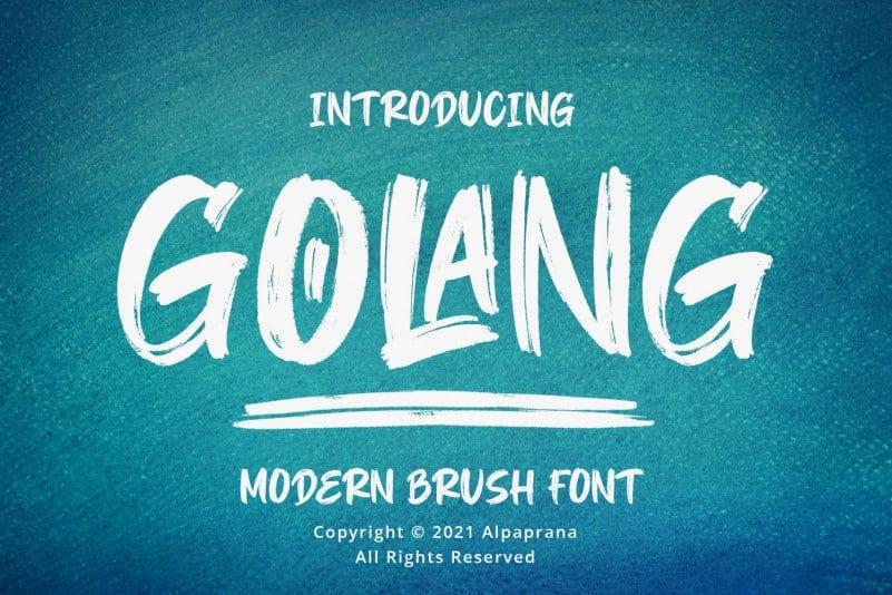 Download Golang font (typeface)