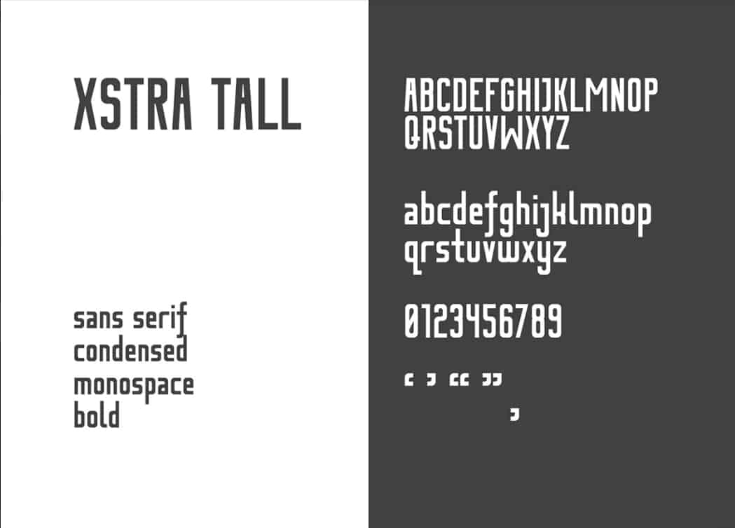 Download Xstra Tall font (typeface)